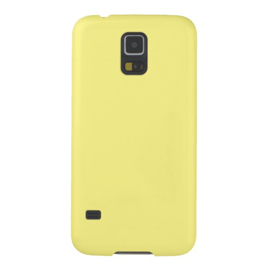 Creamy Pale Pastel Butter Yellow Solid Galaxy S5