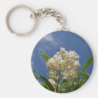 Creamy White Blossom Keychain