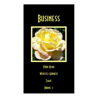 Creamy Yellow Pink Rose Pack Of Standard Business Cards