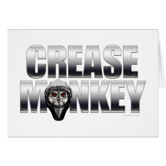 Crease Monkey (Hockey Goalie) Greeting Card