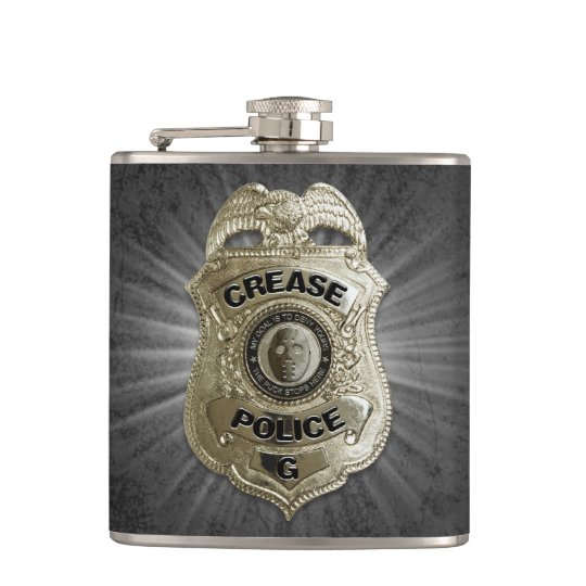 Crease Police (Hockey Goalie) Hip Flask