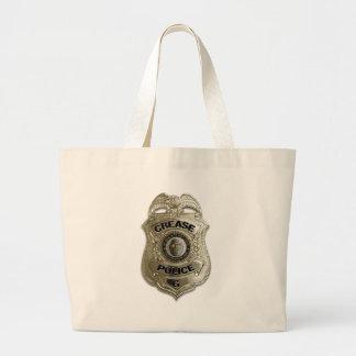 Crease Police (Hockey Goalie) Large Tote Bag