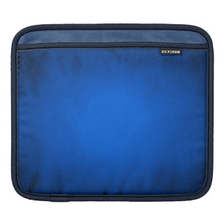 Creased blue paper with spotlight iPad sleeve