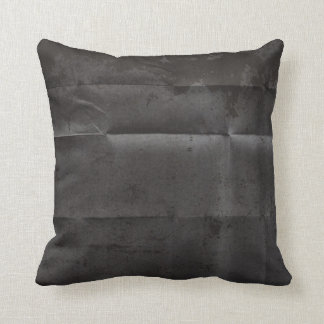 Creased Grungy Black Background Pillows