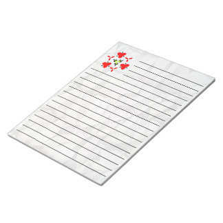 Creased paper pattern notepad