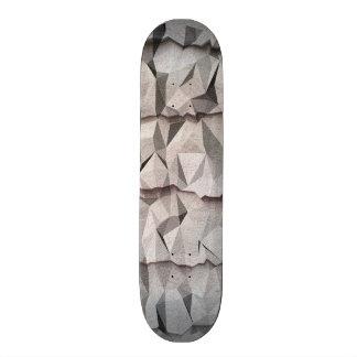 Creased paper pattern skate board deck