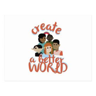 Creat A Better World Postcard