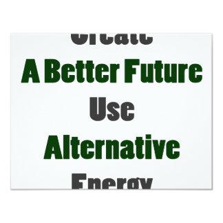 Create A Better Future Use Alternative Energy Custom Announcement