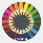 Create a Colourful Life Round Sticker