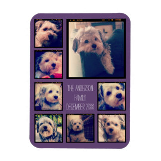 Create a Custom Photo Collage with 8 Photos Rectangular Photo Magnet