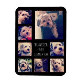 Create a Custom Photo Collage with 8 Photos Rectangular Photo Magnet