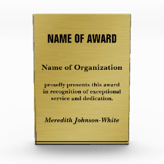 Create a Custom Volunteer Recognition Award (Gold)
