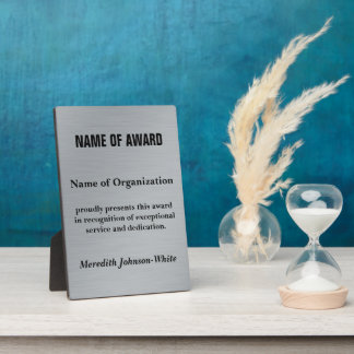 Create a Custom Volunteer Recognition Award (Silv) Photo Plaques