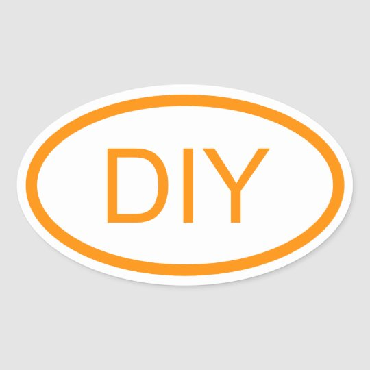 Create a Dark Orange Euro Style Oval Sticker