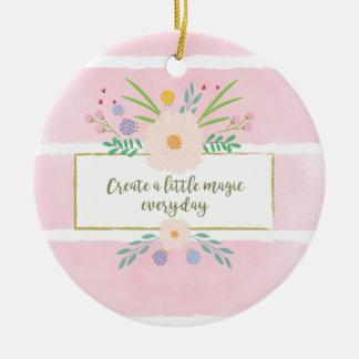 Create a little magic! christmas ornament