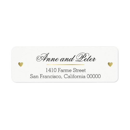 create a romantic custom elegant wedding return address label