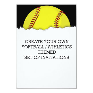 Create a Softball Game Themed Invitation