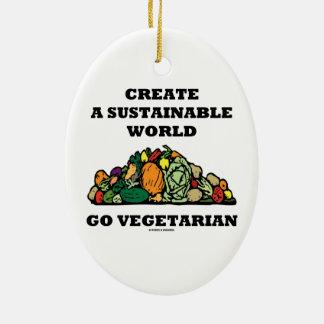 Create A Sustainable World Go Vegetarian Christmas Ornaments