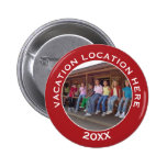 Create A Vacation Souvenir with Photo and Text 6 Cm Round Badge