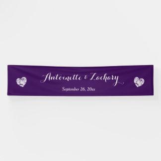 Create A Wedding Banner A4 Purple + Grunge Hearts
