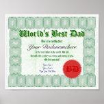 Create a World's Best Dad Certificate