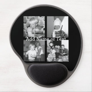 Create an Instagram Collage with 4 photos - black Gel Mouse Pad