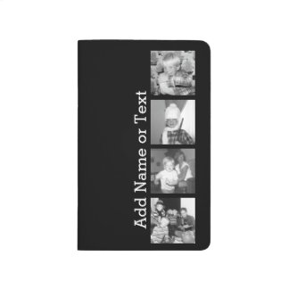 Create an Instagram Collage with 4 photos - black Journals