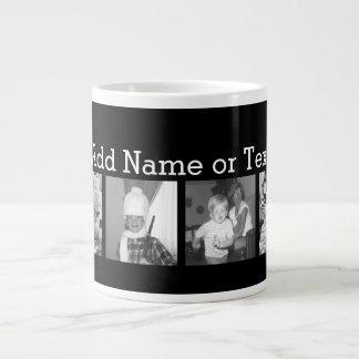 Create an Instagram Collage with 4 photos - black Jumbo Mug