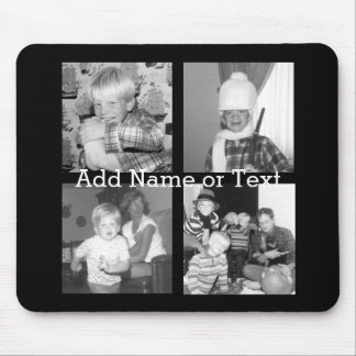 Create an Instagram Collage with 4 photos - black Mouse Pad