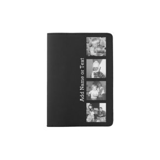 Create an Instagram Collage with 4 photos - black Passport Holder