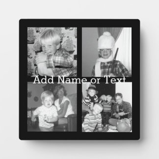 Create an Instagram Collage with 4 photos - black Plaque