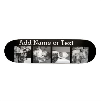 Create an Instagram Collage with 4 photos - black Skateboard Deck