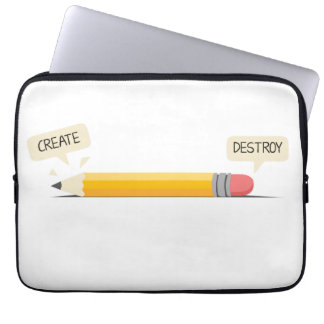 Create and Destroy Neoprene Laptop Sleeve 13 inch