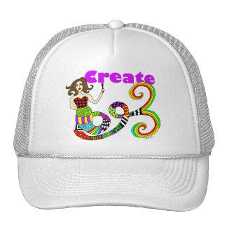 Create Colorful Mermaid Muse Cap