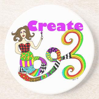 Create Colorful Mermaid Muse Coaster