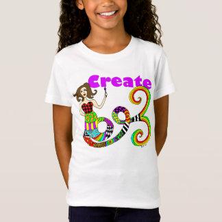 Create Colorful Mermaid Muse Kid's T-Shirt