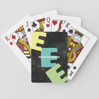 create cool playing cards with name & initial