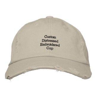 Create Custom Cool Distressed Embroidered Cap/Hat Embroidered Hats