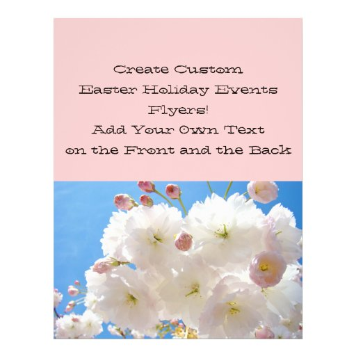 Create Custom Easter Flyers Holiday Events Blossom