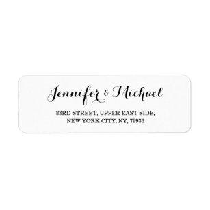Create Custom Elegant Wedding Return Address Label
