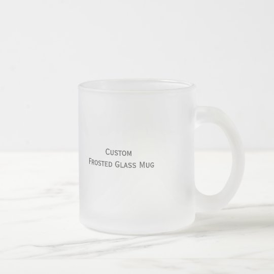 Create Custom Frosted Glass Hot/Cold Beverages Mug