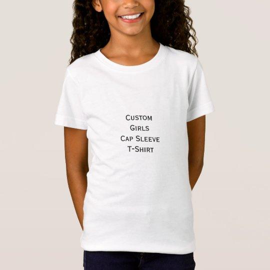 Create Custom Girls Cap Sleeve T-Shirt