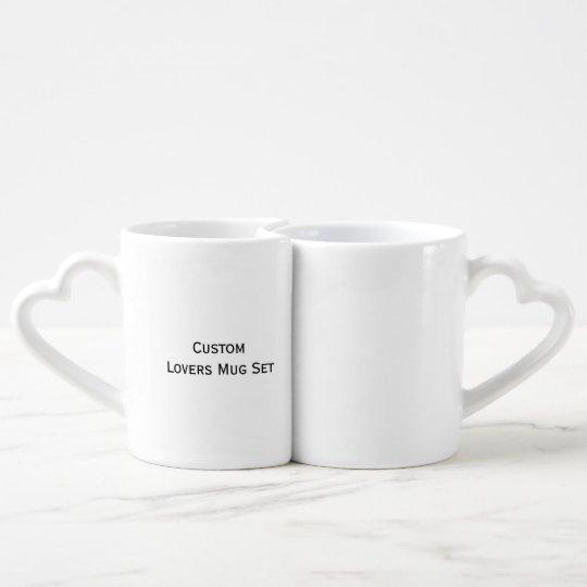 Create Custom Hearts Lovers Tea/Coffee Mug Set
