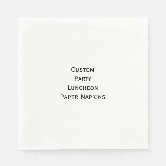 Create Custom Party Luncheon Photo Paper Napkins