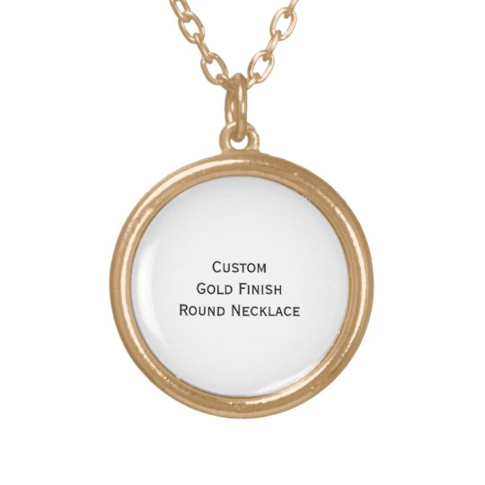 Create Custom Personalised Gold Finish Round Photo Gold Plated Necklace