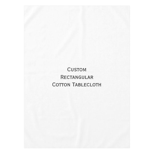 Create Custom Personalised Home Decor Photo Cotton Tablecloth