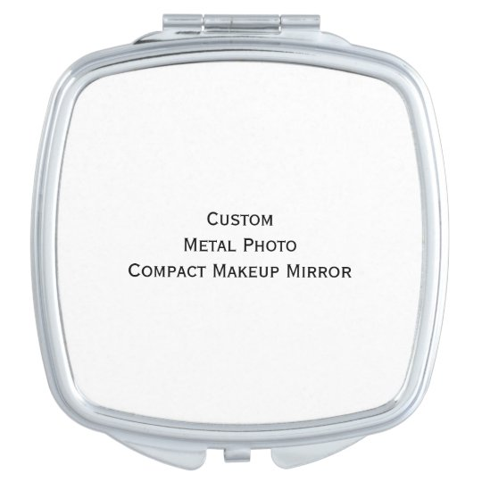 Create Custom Personalised Metal Photo Compact Vanity Mirrors