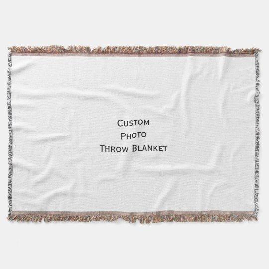 Create Custom Personalised Wedding Holiday Photo Throw Blanket