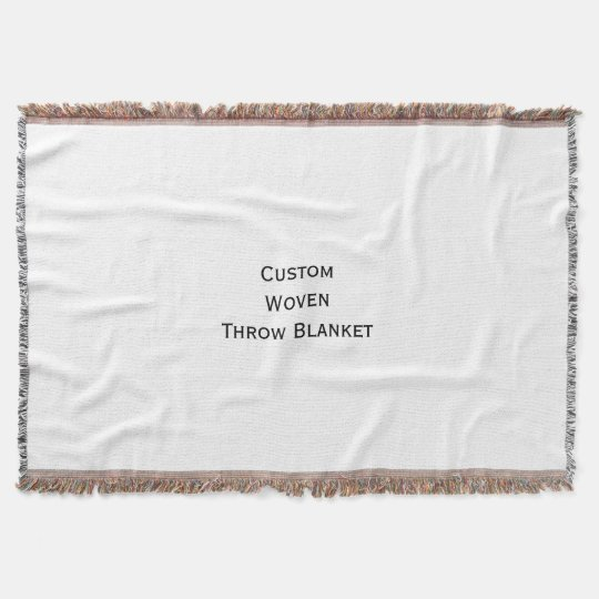 Create Custom Personalised Woven Throw Blanket