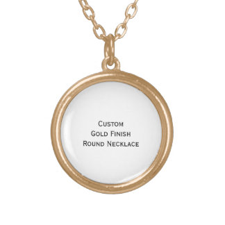 Create Custom Personalized Gold Finish Round Photo Gold Plated Necklace